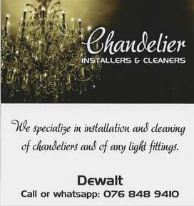 Chandelier Cleaning and instalation