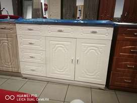 Brand new kitchen Cupboards with double sink of excellent quality.