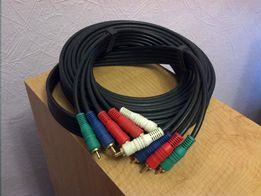 Межблочный component video audio 5 RCA 5RCA тюльпан 5м cable кабель