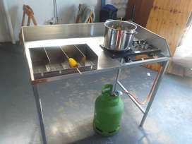 Collapsible Stainless Steel Corn / Mielie Stand