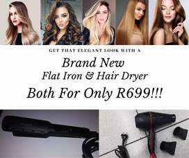 Brand new flat iron & Blow Dryer special