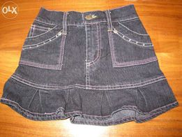 dżinsowa spódnica z ozdobami