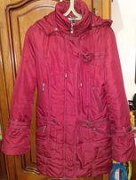Пуховик Пальто (синтепон), демисезон, 46 размер, с капюшоном.