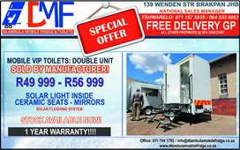 Mobile toilets, VIP Toilets For Sale.