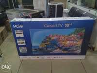 Selling brandnew Haier 55 inches digital Smart curved TV on offe 0
