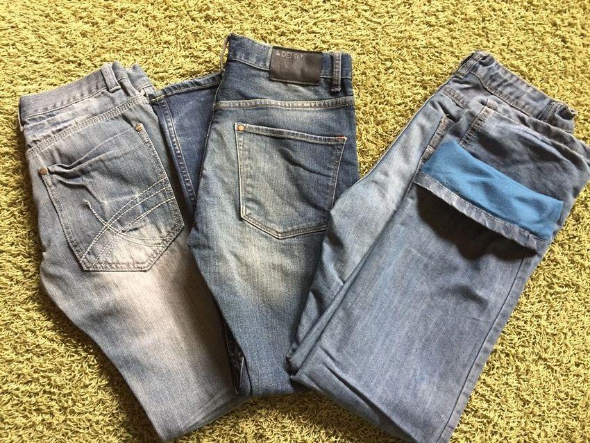 Dětské jeans 3ks vel.152 0