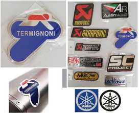 Termignoni Yamaha aluminium heat proof exhaust silencer badge decals