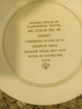 Antique lady Diana gold plated plate