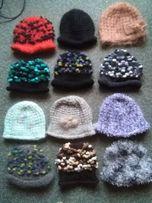 czapka czapki kapelusz wełna rękodzieło ręczne wykonanie