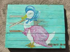 HAND PAINTED ON STURDY WOOD.
