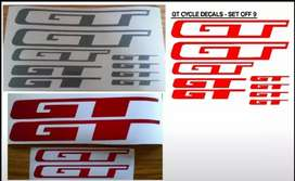 GT bicycle frame stickers decals graphics