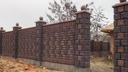 Блок заборный, блок колотый, блок декоративный, рваный камень, скала,