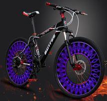 Подсветка колес радуга 14 LED USB аккум на спицы велоподсветка габарит