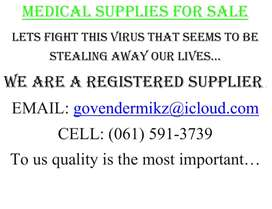 MEDICAL SUPPLIES FOR SALE