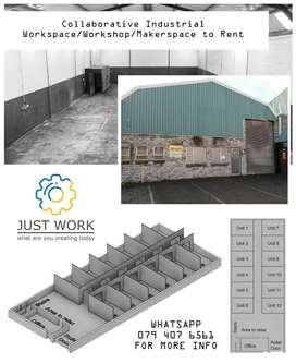 Collaborative Industrial Workspace/Workshop/Makerspace to Rent