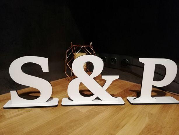 Dekoracje ślubne - litery S&P w kolorze białym Kraków - image 2
