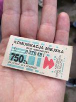 Bilet komunikacji