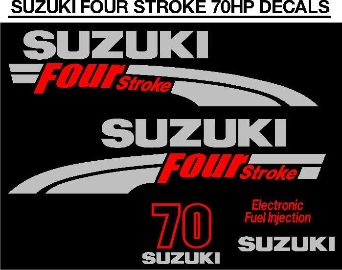70 Horse power motor DF cowl graphics decals sticker sets 0
