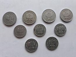 Monety PRL - 9 sztuk