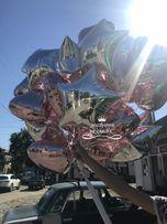 Воздушные шары, Шарики с гелием, фольгированные циферки, звезды,сердца