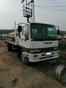 1997 Hino ADE 366N flat flat deck for sale.