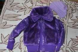 Стильна куртка з хутром,курточка демисезонна 4- 5р