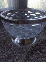 Хрустальная ваза для сладостей и выпечки диаметр20см,высота15,Богемия