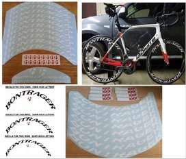 Bontranger bicycle frame / rim stickers decals kits