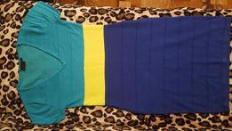 NOWA sukienka Rainbow Bon Prix turkus limonka chaber, rozmiar M / L