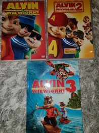 Alvin i Wiewiórki - 3 FILMY DVD