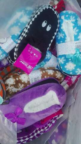 Your colorful  Winter slippers  and socks for 50r each.