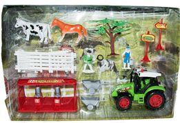 FARMA GOSPODARSTWO Rolne Koń Traktor Krowa Zabawka