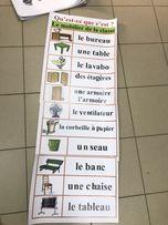 Плакаты по французскому языку