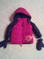Теплая зимняя куртка на мальчика на возраст до 1 год, до 12 мес.