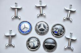 45мм Эмблема Mercedes на капот w124/w210/w202/w203/w204/w140/w211/w220