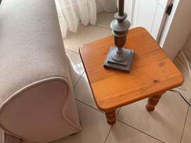 Small solid timber side table
