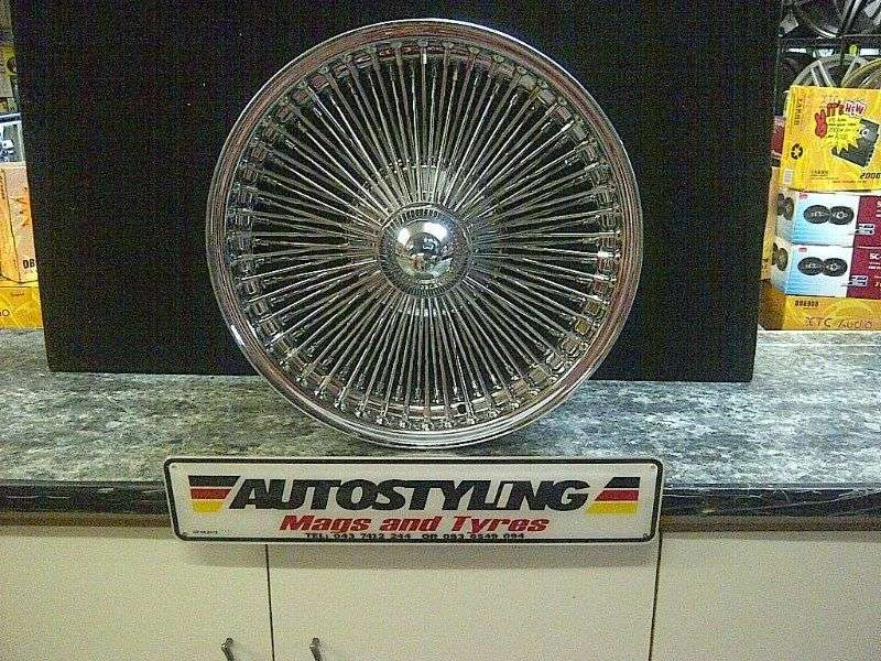 Autostyling-1000 Spoke Mag .wire wheels in 15 & 17 inch in stock