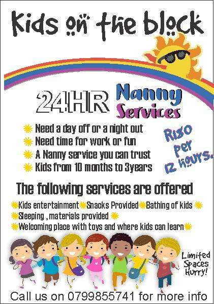 24 HOURS NANNY SERVICES ...TAKING CARE OF YOUR CHILD WHILE YOU WORK 0