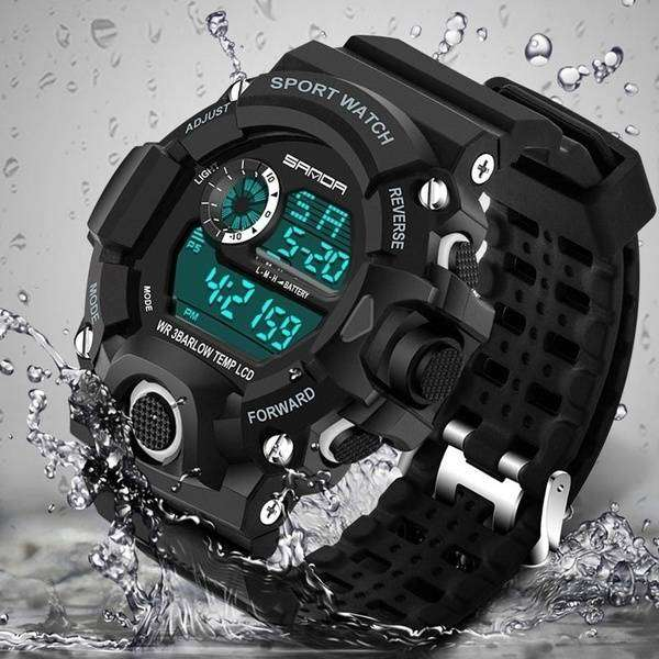 Men Sports Watches Fashion Wristwatches Dive Men's Sport LED Digital 0