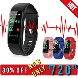 Smart Watch Heart Rate Monitor Thermometer Pulse Oximeter
