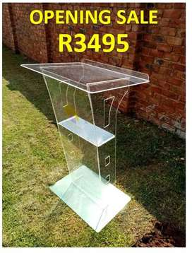 Clear Transparent Industrial Conference Pulpit