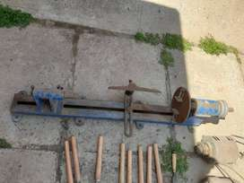 Lathe with 2 electric motors and wood tools