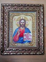 Картина вышитая крестиком Икона, Господь, Иисус Христос, на подарок