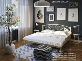 Металлическая кровать Лилия с матрасом