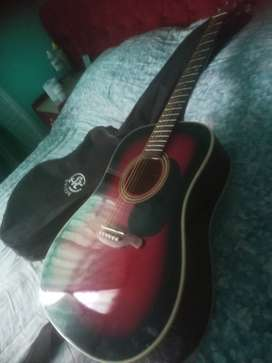 Guitar and bag for sale