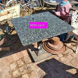 Granite tops tables for outdoor R850 each