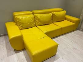 Special!! Kid yellown leather couch