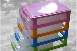 Комод пластиковый мини детский 4-х ярусный Органайзер Комод дитячий