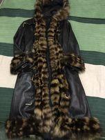Кожаное пальто XS