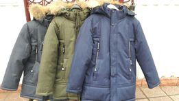 Стильная зимняя куртка 134 - 164 рост